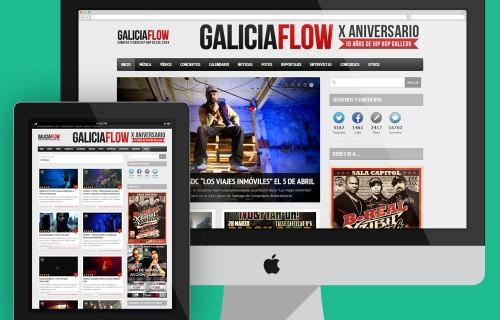 PÁGINA WEB / MAGAZINE GALICIAFLOW
